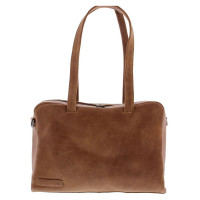 "Plevier Dames Documenten Schoudertas 14"" Cognac 703"
