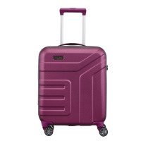 Travelite Vector 4 Wheel Trolley S Plum