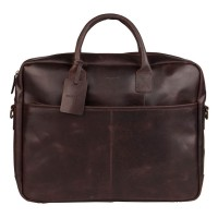 Burkely Vintage Max Worker Schoudertas Dark Brown 733922