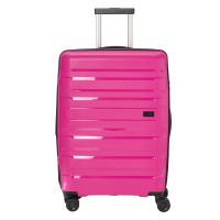 Travelite Kosmos 4 Wheel Trolley M Exp Rose Pink