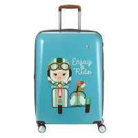 Travelite Lil Ledy 4 Wheel Trolley M Turquoise
