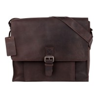 Burkely Vintage Mick Schoudertas Dark Brown 775122