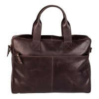 "Burkely Vintage River Laptop Bag 15.6"" Brown"