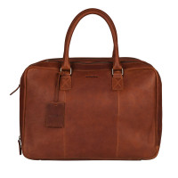 "Burkely Antique Avery Worker 15.6"" Cognac"