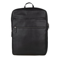 """Burkely Antique Avery Backpack Zip 15.6"""" Black"""