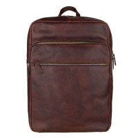 """Burkely Antique Avery Backpack Zip 15.6"""" Brown"""