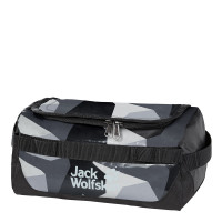 Jack Wolfskin Expedition Wash Bag Toilettas Grey Geo Block