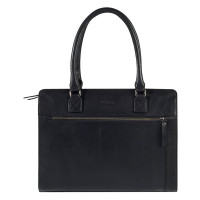 "Burkely Antique Avery Handbag M 14"" Black"
