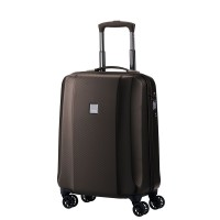 Titan Xenon Deluxe 4 Wheel Trolley S Brown