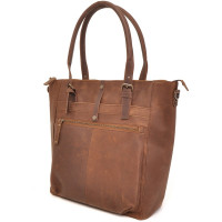 "Barbarossa Ruvido Dames Laptop Schoudertas 14"" Coffee"
