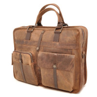 "Barbarossa Ruvido Laptop Schoudertas 2-Vaks 15.4"" Coffee"