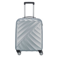 Titan Shooting Star 4 Wheel Cabin Trolley S Silver