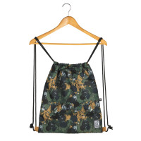 The Pack Society The Gymsack Rugzak Green Camo Allover