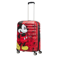 American Tourister Wavebreaker Disney Spinner 67 Mickey Comics Red