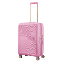 American Tourister Soundbox Spinner 67 Exp. Pearl Pink/Gold