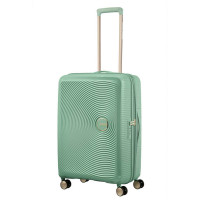 American Tourister Soundbox Spinner 67 Exp. Almond Green/Gold