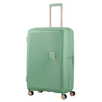 American Tourister Soundbox Spinner 77 Exp. Almond Green/Gold