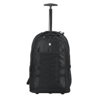 "Victorinox Vx Sport Wheeled Cadet Trolley Backpack 16"" Black"