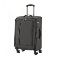 Travelite CrossLite 4 Wheel Trolley M Exp. Black
