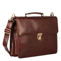 Leonhard Heyden Cambridge Medium Aktetas Red Brown 5251