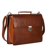 Leonhard Heyden Cambridge Medium Aktetas Cognac 5251
