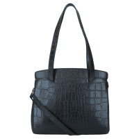 LouLou Essentiels Vintage Croco Silver Schoudertas Black
