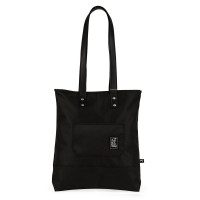 The Pack Society The Shopper Schoudertas Recycled Fabric Black