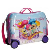 Disney Rolling Suitcase 4 Wheels Shimmer & Shine Wish