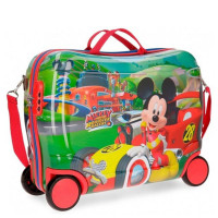 Disney Rolling Suitcase 4 Wheels Mickey Roadster Racers