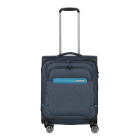 Travelite Madeira 4 Wiel Trolley S Navy/Turquoise