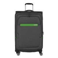 Travelite Madeira 4 Wiel Trolley L Expandable Antracite/Green