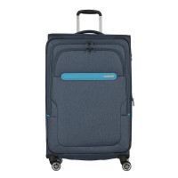 Travelite Madeira 4 Wiel Trolley L Expandable Navy/Turquoise