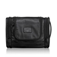 Tumi Alpha 2 Leather Travel Hanging Travel Kit Black