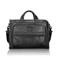 Tumi Alpha 2 Business Leather Slim Deluxe Portfolio Black
