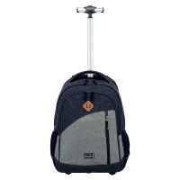 Travelite Basics Trolley Backpack Melange Navy