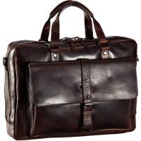 Leonhard Heyden Roma 2-Vaks Laptop Tote Bag Brown