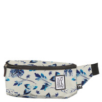 The Pack Society The Bum Bag Off White Blue Flower Allover