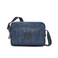 Kipling Abanu Medium Crossbody Blue Eclipse Print