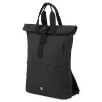 Lyle & Scott Roll Top Backpack True Black