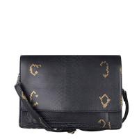 Cowboysbag X Bobbie Bodt Bag Onyx Schoudertas Snake Black And Gold