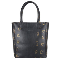 "Cowboysbag X Bobbie Bodt Bag Quartz 13"" Shopper Snake Black And Gold"