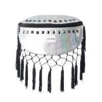 Spiral Black Label Bum Bag Bijoux Rave Tassels Silver