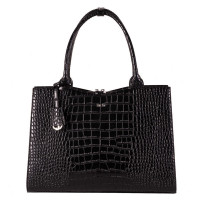"Socha Businessbag Croco 14-15.6"" Crocodile Jet Black"