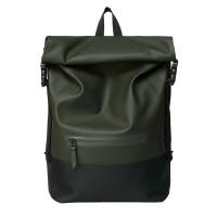 Rains Original Buckle Roll Top Backpack Green