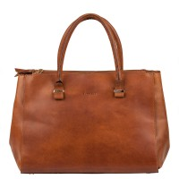 Burkely Vintage Wieske 2-Zipper Shoulder Bag Cognac