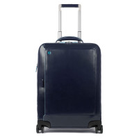 "Piquadro Blue Square Cabin Trolley Front Pocket 15.6"" Night Blue"