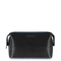 Piquadro Blue Square Beauty in Pelle Toiletry Bag Black