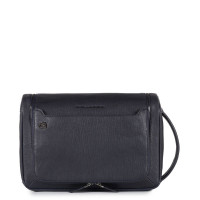Piquadro Black Square Toiletry Bag With Hanging Hook Night Blue