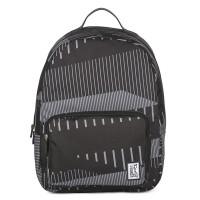 The Pack Society The Classics Rugzak Black Stripe Allover