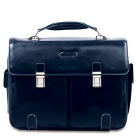 "Piquadro Blue Square Computer Briefcase 15.6"" Night Blue"